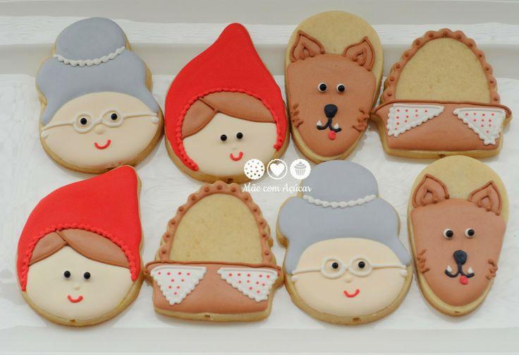 Biscoitos decorados chapeuzinho vermelho