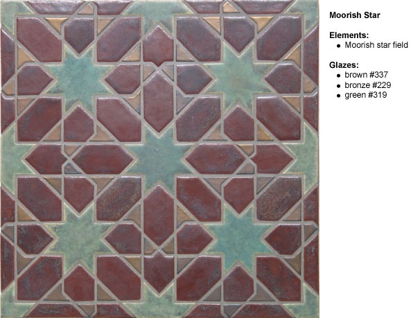 Arts And Crafts Ceramic Floor Tile Mosaic