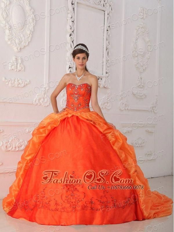 f8ac2e4c6df New Orange Red Quinceanera Dress Sweetheart Organza Beading and Appliques  Ball Gown http
