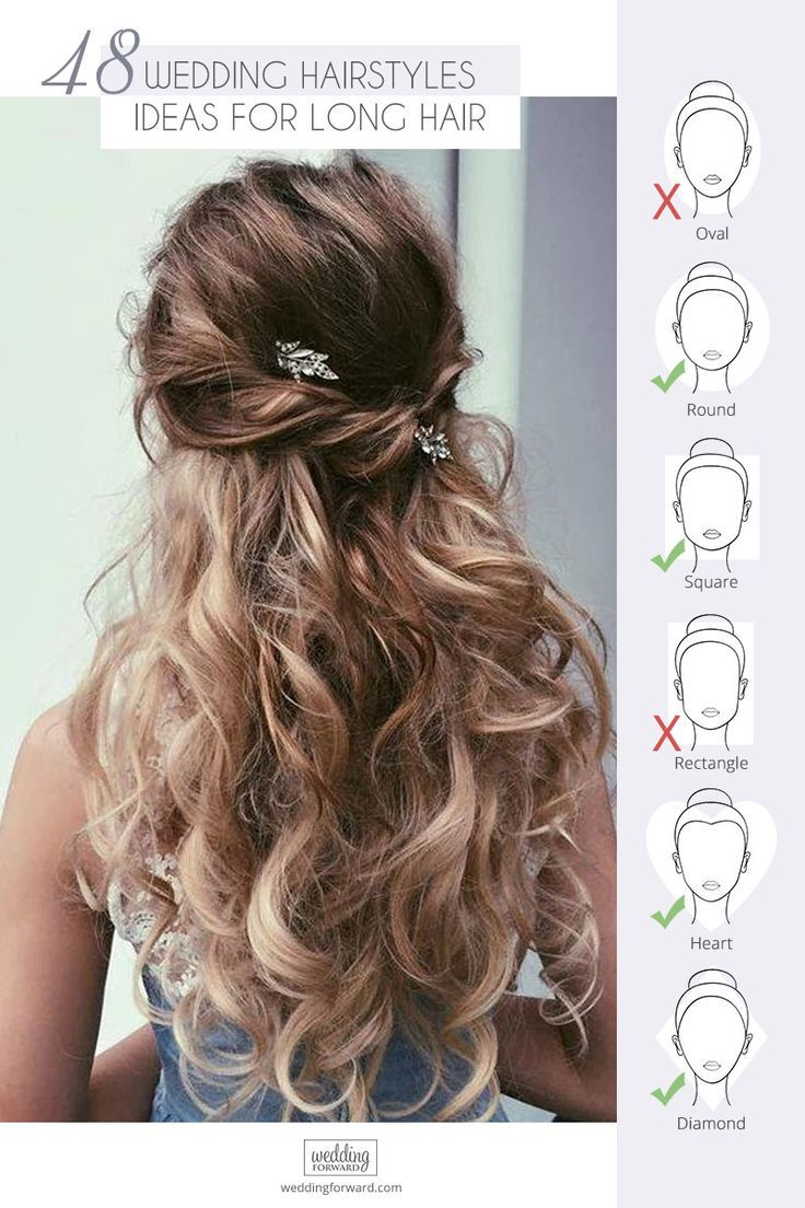 48 Our Favorite Wedding Hairstyles For Long Hair ❤️ We make a list of our favorite wedding hairstyles for long hair. Look through it and pick your perfect variant to become the most beautiful bride. #wedding #hairstyles #weddinghairstyles #favoriteweddinghairstyleslonghair