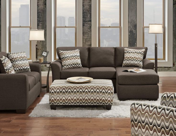 Cosmopolitan Cocoa Sectional The 3900 Cosmopolitan Cocoa Sectional By Affordable  Furniture. This Contemporary Sectional Is