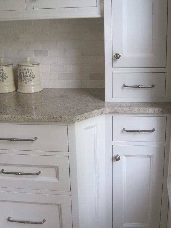 """kashmir white granite marble subway tile""  ""tumbled marble 2 X 4 backsplash with kashmir white granite"""