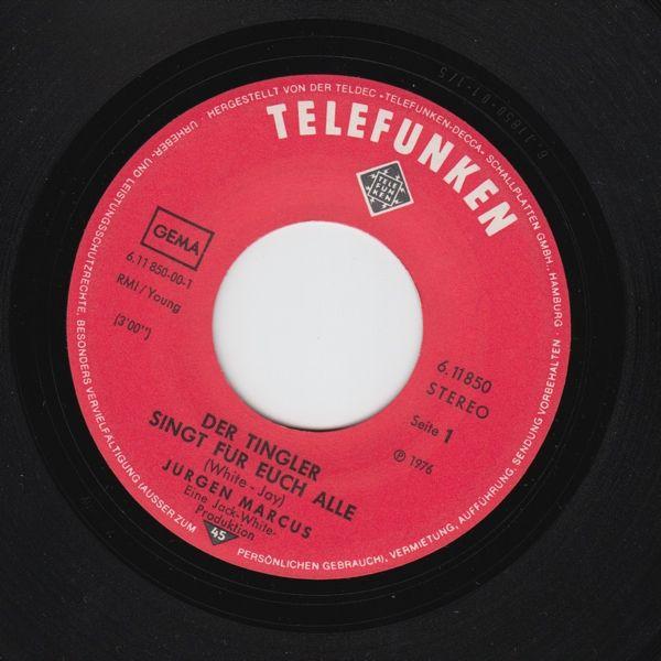 Der Tingler Singt für euch alle - Eurovision 1976 - Jürgen Marcus. Desværre uden cover. Men kopi af omslaget kan fremtrylles