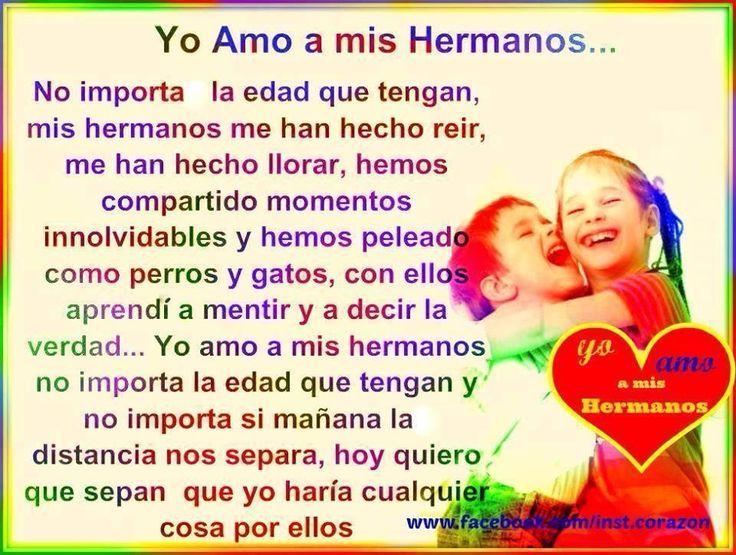 ♥ ¡YO AMO A MIS HERMAN@S! ♡