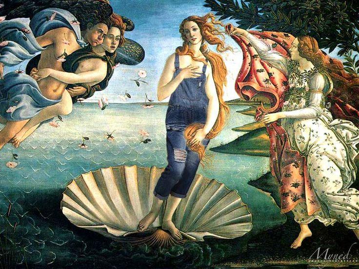 Unusual Denim Overall #primavera #spring #botticelli