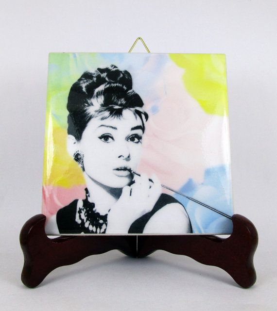 Audrey Hepburn  breakafast at Tiffany's by TerryTiles2014 on Etsy