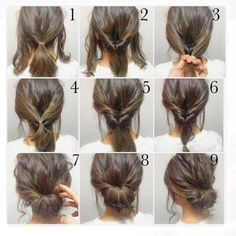 Top 100 easy hairstyles for short hair photos What a effortless easy updo for the weekend, day or night♀️. And it won't get ruined by a chunky scarf! You know the Winter vs Hair problems. ✅ SORTED! . . . Photo Credit    duiting.com @pinterest #hairstyles