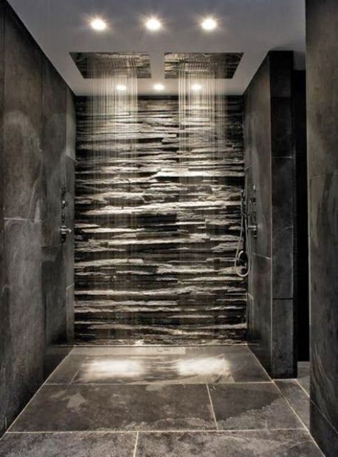 46 amazing innovative shower designs natural stone wall shower room design