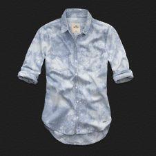 Camisa Jeans Hollister
