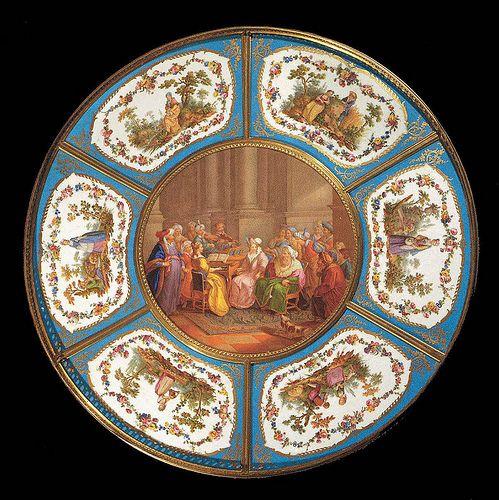 015 –Plato con siete placas de porcelana 1774-Porcelana de Sèvres- Web Gallery of Art--© 2005-2010 Musée du Louvre | Flickr - Photo Sharing!