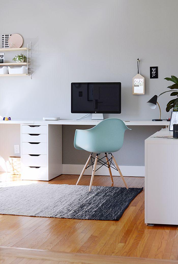 design, interior, home, studio, mac, desk, chair, simple, storage, work space, office
