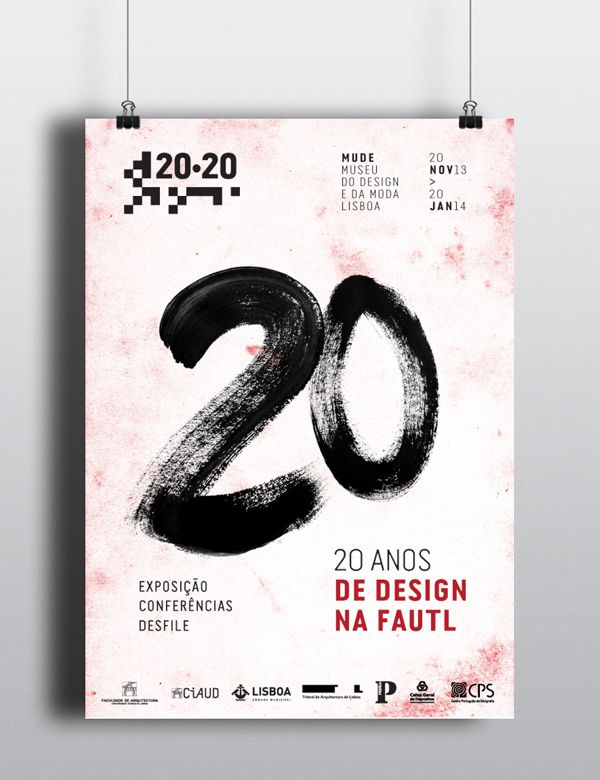 | Poster and invitation for 20-20 exhibition on Behance