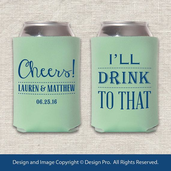 15 Funny Wedding Koozies For The Offbeat Bride