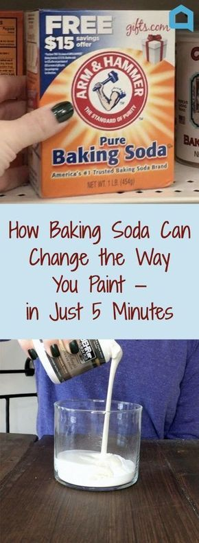How Baking Soda Can Change the Way You Paint—in Just 5 Minutes | diy home decor | diy painting tricks