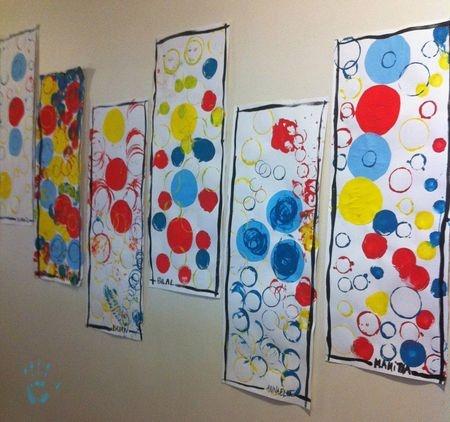 Des ronds jolis coloris et format.