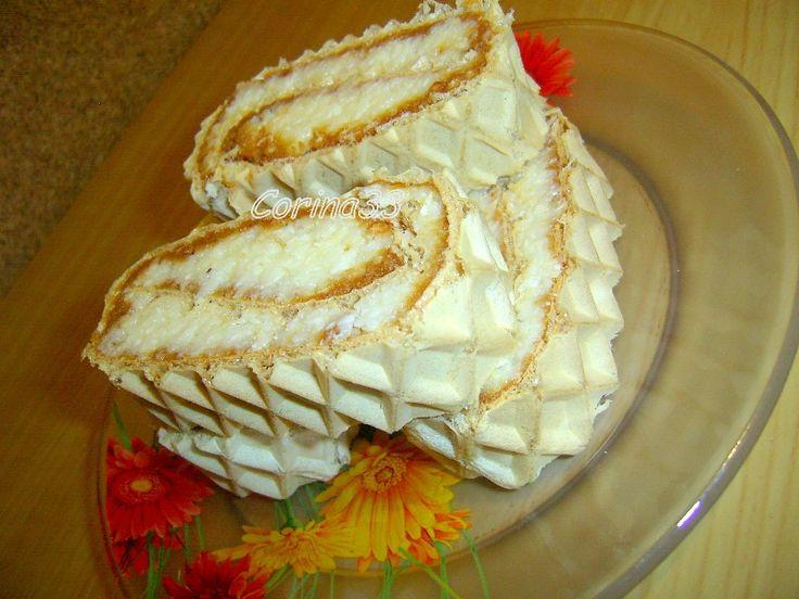 Rulada cu crema caramel si cocos