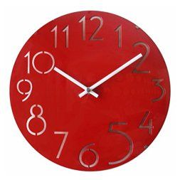 Red Wall Art 25+ best red wall clock ideas on pinterest | red clock, midcentury