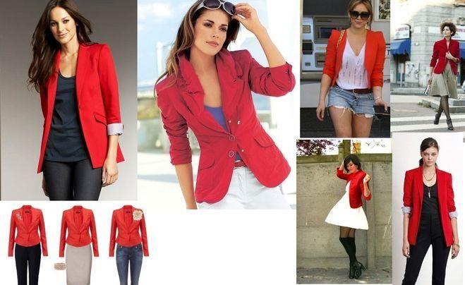 Счем надеть красный пиджак