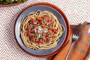 There's nothing better on spaghetti than a meaty Bolognese sauce that's been simmering in a slow cooker all day. Try this and see if you don't agree!