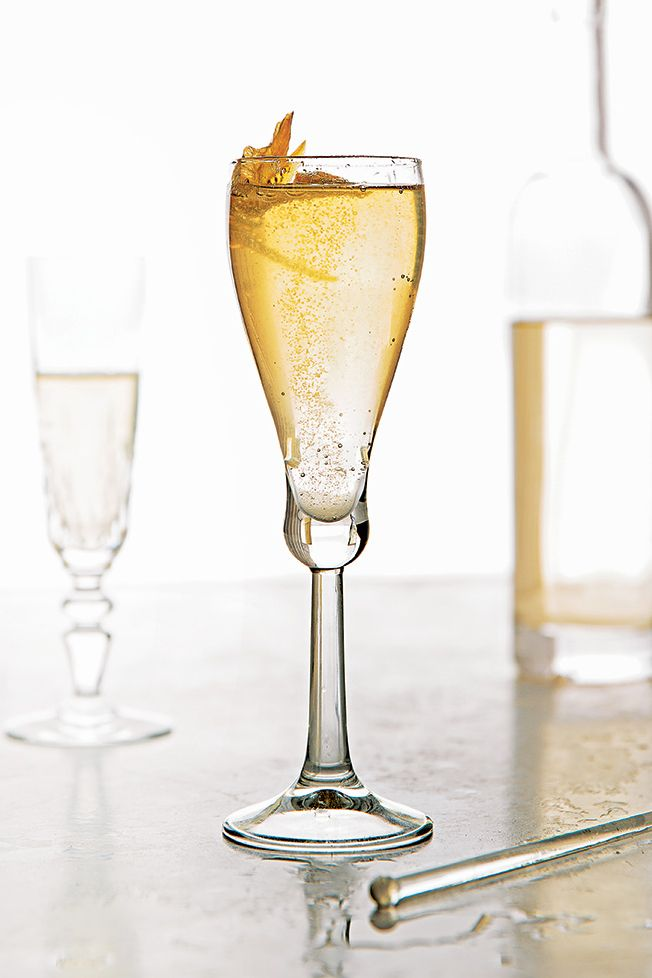 Planet of the Grapes | SAVEUR This citrusy, floral drink mixes orange blossom-infused liqueur and vodka with chamomile syrup and sparkling wine.