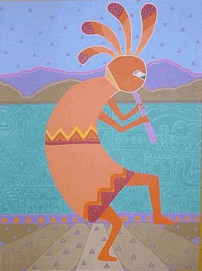 Colorful Kokopelli Painting