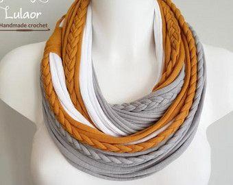 Bufanda de camiseta T, t camisa infinito bufanda, bufanda de lazo, bufanda de la tela, bufanda de la tela de algodón
