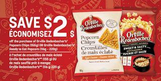 2$ de rabais sur les croutilles de maïs éclaté ou soufflé de Orville Redenbacher's
