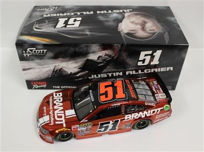 Justin Allgaier Diecast 51 Brandt 1/24 2015 Color Chrome NASCAR   DiecastCarsNow.com
