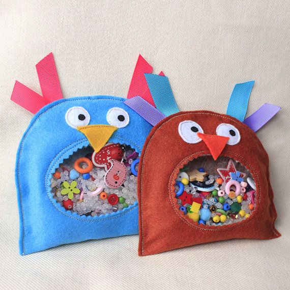 I spy bag Sensory toy Stuffed owl by PopelineCo on Etsy