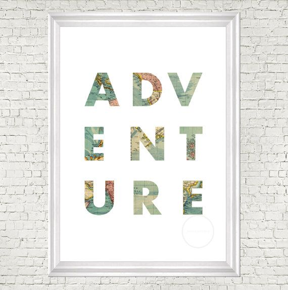 travel quote world map art map quote print by digitalsociety