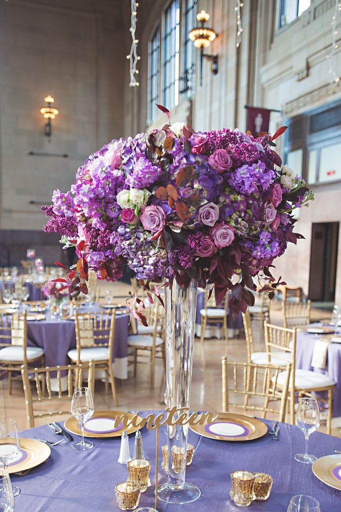 Purple And Gold Wedding At Union Station Kansas City Mo