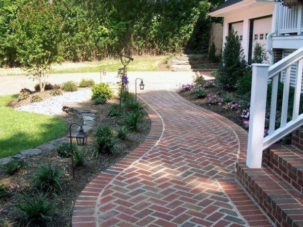 Top 50 Best Brick Walkway Ideas Hardscape Path Designs