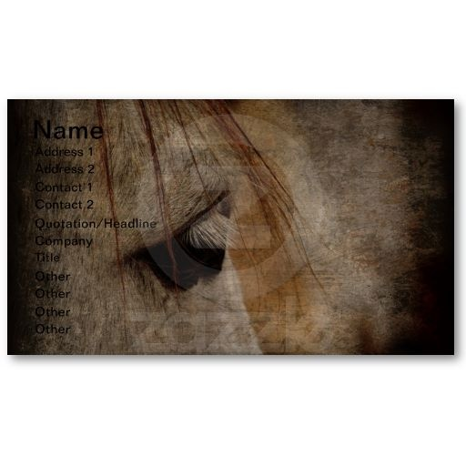 The 16 best business cards for the equine business images on grey horse grunge business card colourmoves
