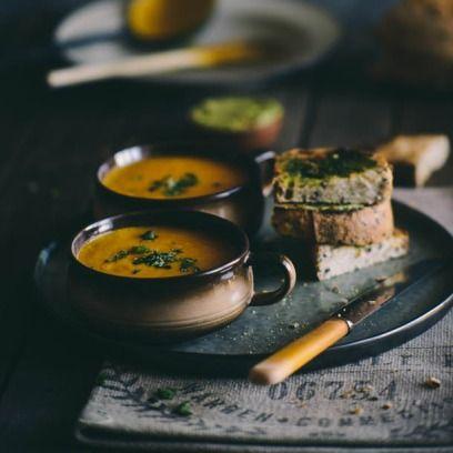 Σούπα με καρότο και πορτοκάλι