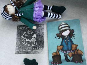 Прекрасный мастер-класс для начинающих — шьем куклу для панно