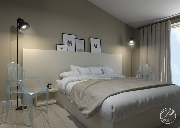 Projekt domu na Wawrze |  Bedroom Progetti Architektura