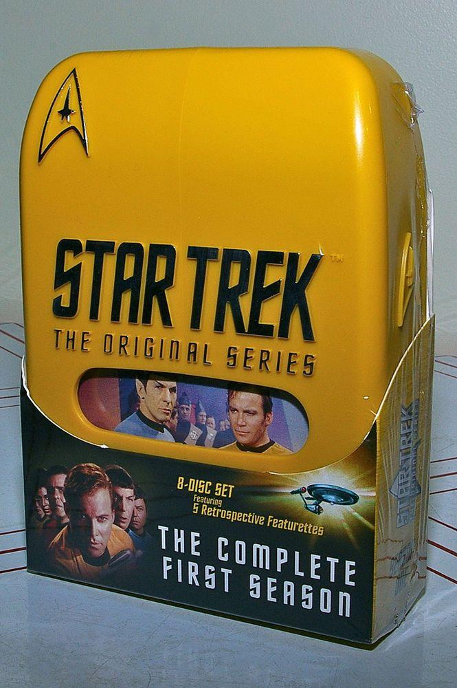 Star Trek Original Series Season 1 MIB. 8 Disc Set. DVD Hard Case NWOT