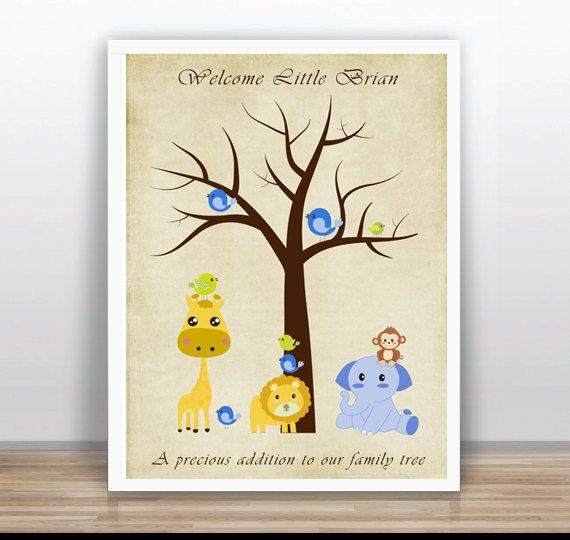 Baby shower guest book  Nursering Art Wall  Custom by ByYolanda, €15.00