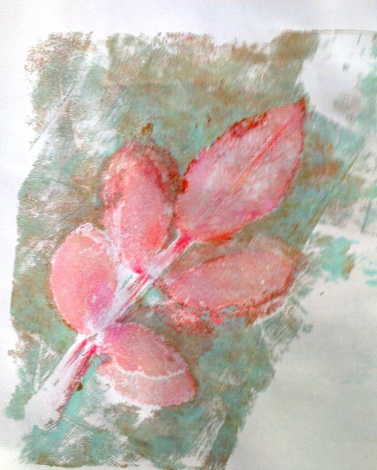 Going for red leaf! @Gelli Arts®