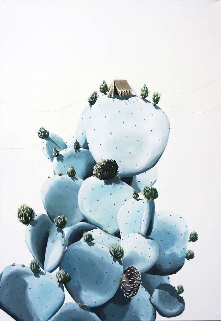 Cactus Camping 120x100 cm Acryl