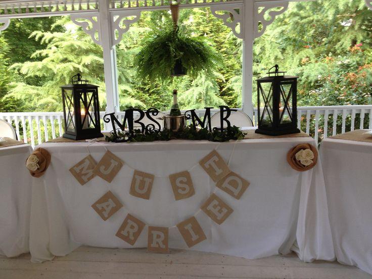 Bride And Groom Wedding Table Ideas the bride and groom table ideas Bride And Grooms Table For Rustic Wedding Wedding Stuff Pinterest Weddings