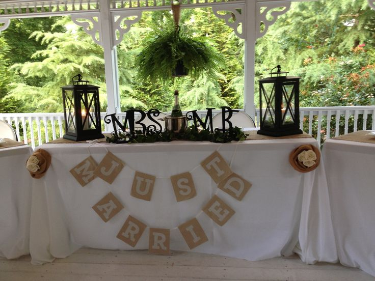 Rustic Wedding Gifts For Bride And Groom : Bride and Grooms Table for Rustic Wedding Wedding Ideas Pinterest