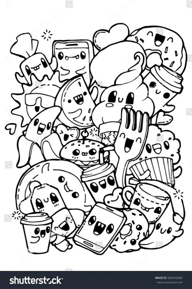 27 Inspiration Picture Of Cute Food Coloring Pages Albanysinsanity Com Doodle Coloring Cute Coloring Pages Food Coloring Pages
