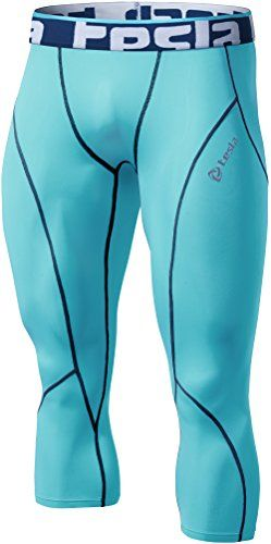 TM-P15-SBNZ_X-Large Tesla Men's Compression 3/4 Capri Shorts Baselayer Cool Dry Sports Tights P15  We strongly recommend ordering ONE size up what you normally wear.  Gear designed for all seasons (Releases heat and wicks moisture with a cooling effect)  87% Polyester-13% Spandex  Non abrasion fabric material with excellent elasticity and durability  Moisture Sensing/Quick time Dry/TWO-WAY Air Circulation.