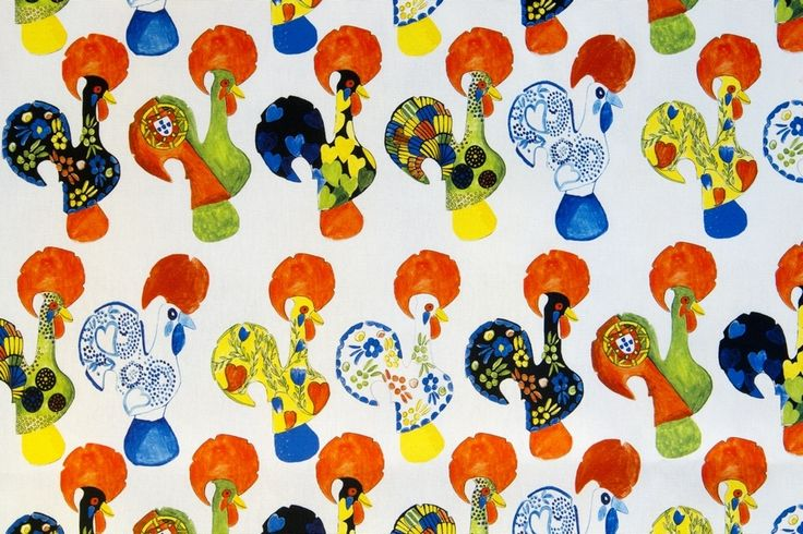 Vidal Tecidos | Produtos | - Galo de Barcelos - Tecido - Fabric !!