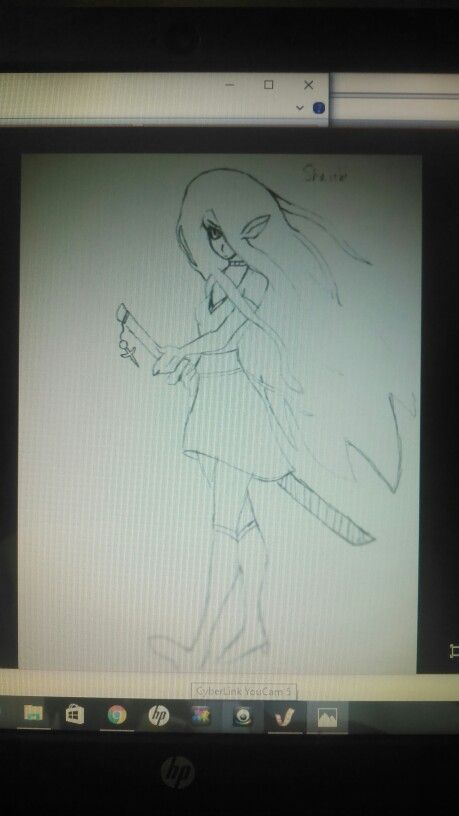 I also find play in drawing, both on and off of the computer. This one was hand sketched and then scanned into the computer. Her name is Shuichi, yes a weird name, but she's a half elf on the run/hunt. More to come if you wait for the story.