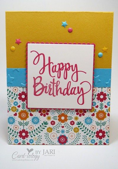 Festive Birthday - SU - CAS - Stylized Birthday stamp from Stampin' Up! - SU