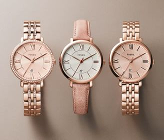 Jacqueline Watch from Fossil. I love the band on the center watch!