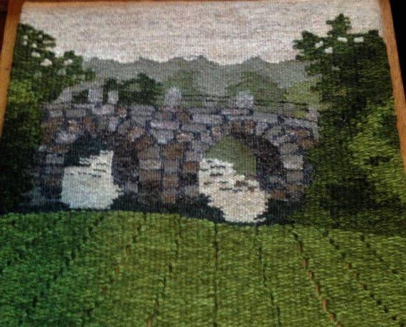 Swedish / Scandinavian beautiful handmade wallhaning/Bridge
