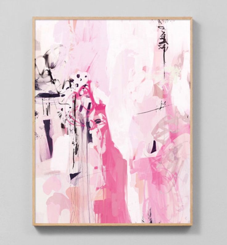 49 best Pink Wall Art images on Pinterest | Pink wall art, Abstract ...